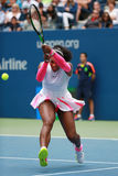 Grand Slam champion Serena Williams of United States in action during her round three match at US Open 2016 Stock Photography