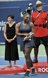 Grand Slam Champion Serena Williams of United States during trophy presentation after her final match at 2019 Rogers Cup