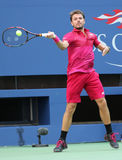 Grand Slam champion Stanislas Wawrinka of Switzerland in action during his first round match at US Open 2016 Stock Images