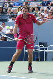 Grand Slam champion Stanislas Wawrinka of Switzerland in action during his round four match at US Open 2016 Stock Images