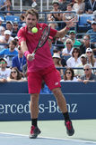 Grand Slam champion Stanislas Wawrinka of Switzerland in action during his round four match at US Open 2016 Stock Photography