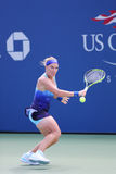 Grand Slam Champion Svetlana Kuznetsova from Russia during US Open 2014 first round match Stock Images