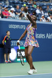 Grand Slam champion Venus Williams in action during first round match at US Open 2016 Stock Images