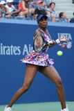 Grand Slam champion Venus Williams in action during first round match at US Open 2016 Royalty Free Stock Photos
