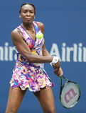 Grand Slam champion Venus Williams in action during first round match at US Open 2016 Stock Photography