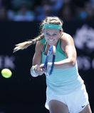 Grand Slam Champion Victoria Azarenka of Belarus in action during her round 4 match at Australian Open 2016 Stock Photos