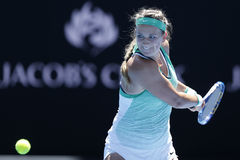 Grand Slam Champion Victoria Azarenka of Belarus in action during her round 4 match at Australian Open 2016 Stock Photography
