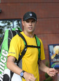 Grand Slam champions Bob Bryan signing autographs after match at US Open 2013 Royalty Free Stock Photo