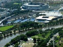 Grand Slam en el parque de Melbourne Imagenes de archivo
