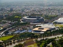 Grand Slam en el parque de Melbourne Fotos de archivo libres de regalías