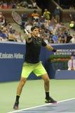 Grand Slam-Meister Juan Martin Del Porto von Argentinien in der Aktion während seines runden Matches 2 des US Open 2016 Stockbild
