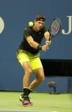 Grand Slam-Meister Juan Martin Del Porto von Argentinien in der Aktion während seines US Open 2016 Stockfotografie