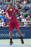 Grand Slam-Meister Stanislas Wawrinka von der Schweiz in der Aktion während seines runden Matches vier an US Open 2016 Stockfotografie