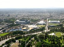Grand slam no parque de Melbourne Imagem de Stock