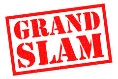 GRAND SLAM Rubber Stamp. GRAND SLAM red Rubber Stamp over a white background Stock Images