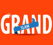 Grand Slam typography with thumbs up and bright background Stock Images