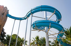 grand slide in water park Stock Photography