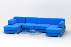 Grand sofa se pliant illustration stock