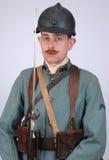 Grand soldat d'infanterie de Français de guerre Images libres de droits