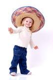 Grand sombrero sur l'enfant en bas âge images libres de droits