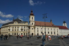 Grand square in Sibiu Stock Photos