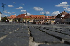 Grand square in Sibiu, Romania Stock Images