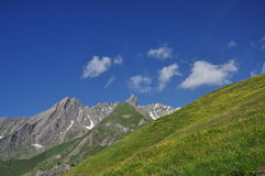 Grand St. Bernard region, Italian Alps, Aosta Valley. Royalty Free Stock Image