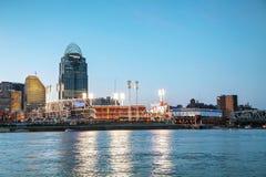 Grand stade américain de stade de base-ball à Cincinnati, Ohio Image stock