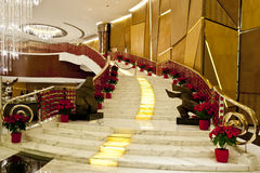 A grand stair. Indoor of a hotel Stock Photo