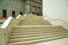 A grand stair case. A grand stone stair case in the British museum Stock Image