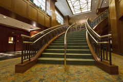 Grand Staircase. In Hotel Lobby City Downtown Royalty Free Stock Photos