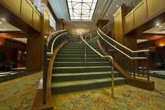 Grand Staircase 2. Grand Staircase in Hotel Lobby City Downtown 2 Royalty Free Stock Photography