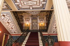 Grand Staircase at the Achilleion Palace on the island of Corfu Greece built by Empress Elizabeth of Austria Sissi Royalty Free Stock Photography