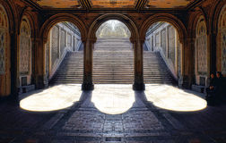 Grand staircase at Central Park. Grand staircase at the Bethesda Terrace in Central Park Royalty Free Stock Photography