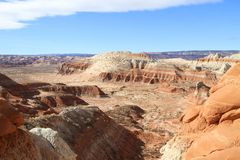 USA, Utah/Staircase Escalante - Bizarre Landscape Royalty Free Stock Photo