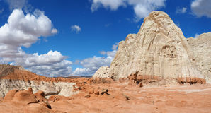 Grand-Staircase Escalante , the Toad Stools. Panorama of the Toad Stools in Grand-Staircase Escalante, Utah Stock Images