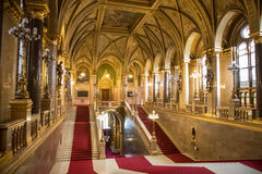 Grand Staircase Hungarian Parliament. Grand Staircase within the Hungarian Parliament, Budapest, Hungary Stock Photography