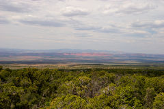 Grand Staircase from viewpoint in Kaibab National Forest, Arizona Stock Photography