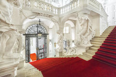 Grand staircase  of Winter Palace of Prince Eugene Savoy in Vien Royalty Free Stock Photos