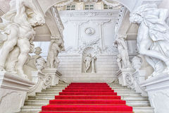 Grand staircase  of Winter Palace of Prince Eugene Savoy in Vien Stock Image