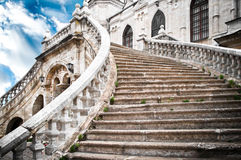 Grand stairs of the church Stock Photos
