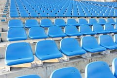 Grand stand blue zone Stock Photo