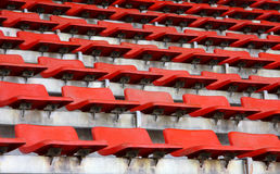 Grand stand, seat in stadium. Grand stand, orange seat in stadium. in horizontal royalty free stock photos