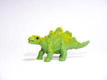 Grand stegosaurus vert de jouet Images libres de droits