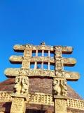 Grand stupa d'Inde de sanchi, patrimoine mondial bouddhiste de monuments photos libres de droits
