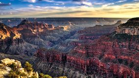 Grand Sunset. This was shot from the North Rim of the Grand Canyon facing south Stock Image