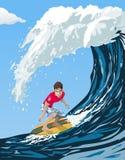 Grand surfer d'onde illustration stock