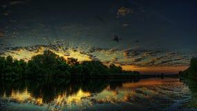 Grand symphonie de lever de soleil Images libres de droits