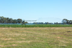 Grand système d'irrigation photographie stock