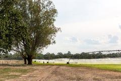 Grand système d'irrigation latéral de mouvement image stock